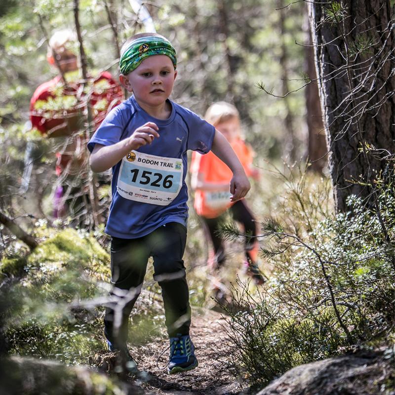 Bodom Trail -kisan lastenmatkalainen vuoden 2016 kisassa Kuva: Juha Saastamoinen
